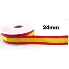 Cinta 25mm bandera España. Rollo 25m