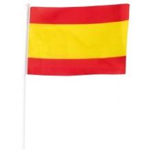 6 Camisetas bandera España trazos. Negra.