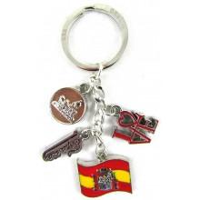 Llavero medallas España. Modelo 544