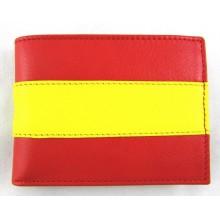Cartera piel bandera España. Modelo 070