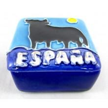 Cajita cerámica España Toro