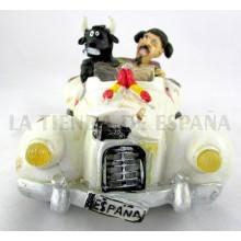 Figura cómic coche toro y torero