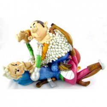 Figura pelea Quijote y Sancho