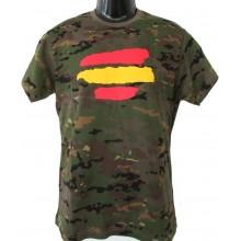 Camiseta camuflaje bandera España