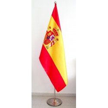 Bandera España con mástil suelo.