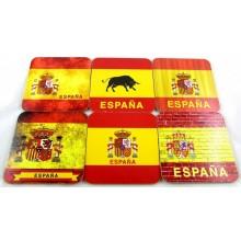 Set 6 posavasos bandera España. Modelo 37