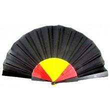 Abanico bandera España negro. Modelo 157