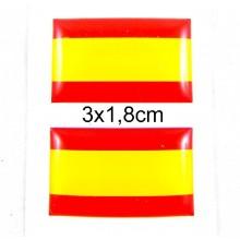 2 pegatinas relieve bandera España. Modelo 59