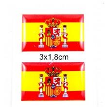 2 pegatinas relieve bandera España. Modelo 60
