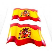 2 pegatinas relieve bandera España. Modelo 61
