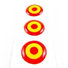 3 pegatinas relieve escarapela España. Modelo 57
