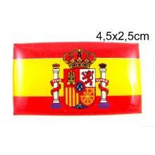 Pegatina relieve bandera España. Modelo 63