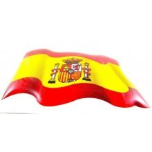 Pegatina relieve bandera España. Modelo 64