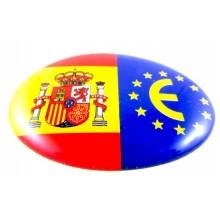Pegatina relieve bandera España y Europa. Modelo 65