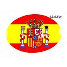 Pegatina bandera España. Modelo 51