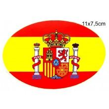 Pegatina bandera España. Modelo 50