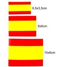 Pegatina bandera España. Modelo 55