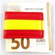 Pinza billetes bandera España. Modelo 01