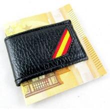 Pinza billetes bandera España. Modelo 02
