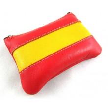 Monedero piel bandera España. Modelo 26.