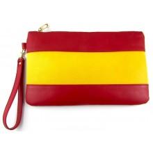 Bolso piel bandera España grande. Modelo 526