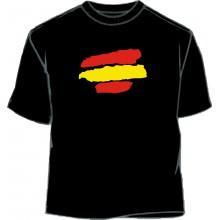 Camiseta bandera España pinceladas