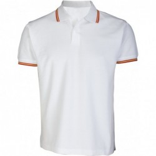 Polo bandera España blanco. Modelo 123