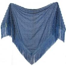 Chal mantón azul. Modelo 53