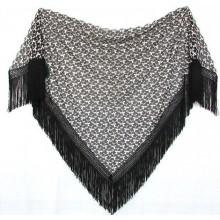 Chal mantón negro-blanco. Modelo 67
