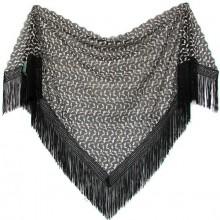 Chal mantón negro-blanco. Modelo 68