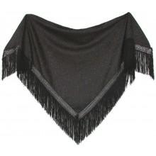 Chal bordado negro. Modelo 76