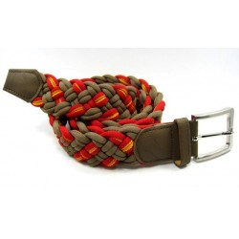 6 Cinturones bandera España. Marrón. Modelo 51
