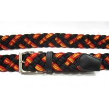 6 Cinturones bandera España. Negro. Modelo 52