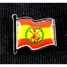 Tubo 25 pulseras bandera España marino. Modelo 24