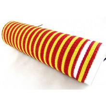 Tubo 24 pulseras bandera España. Modelo 28