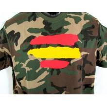 Camiseta bandera España camuflaje.