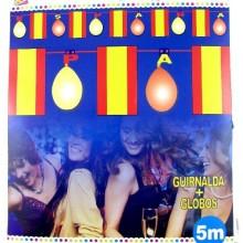 Guirnalda con globos España.