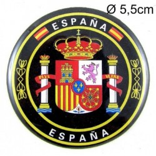 Pegatina relieve Escudo España. Modelo 75