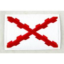 Parche bandera Cruz de Borgoña. Modelo 45