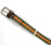 Cinturón elástico bandera España verde. Modelo 45