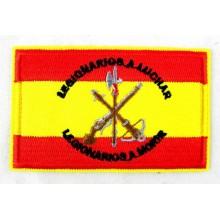 Parche bandera España Escudo Legión. Modelo 44