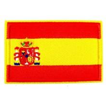 Parche bandera España con escudo. Modelo 49