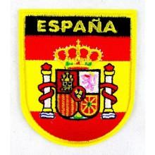 Parche bordado Bandera y Escudo España. Modelo 53