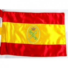 Bandera sobremesa España Guardia Civil bordada a mano