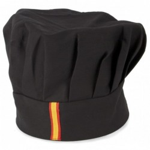 Gorro cocina negro bandera España