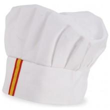 Gorro cocina blanco bandera España