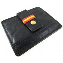 Tarjetero piel bandera España. Modelo 517