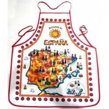 Delantal España platos típicos. Modelo 02
