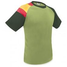 Camiseta técnica kaki con bandera España. Modelo 508