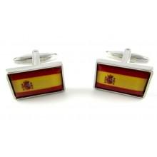 Gemelos bandera España. Modelo 009